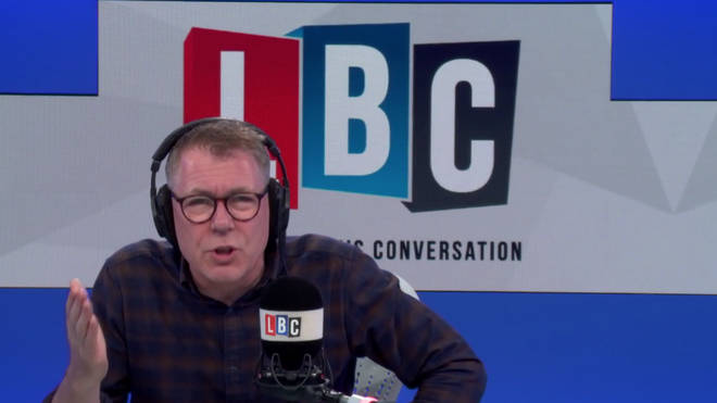 Ian Collins clashed with the caller on Tuesday night