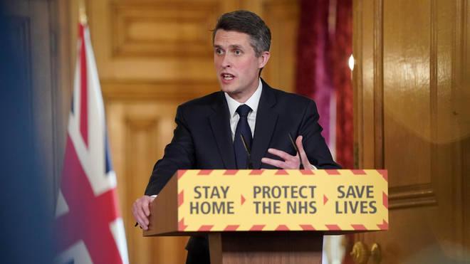 Education Secretary Gavin Williamson led Sunday's government press briefing