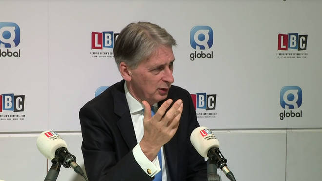 Philip Hammond speaking to Nick Ferrari at the Conservative party conference