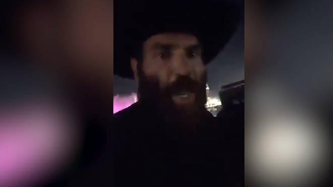 Dan Bilzerian filmed himself fleeing from the scene