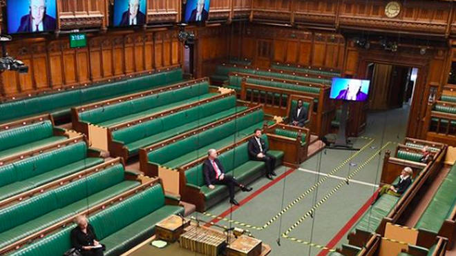 Only a few MPs are permitted to sit in the chamber