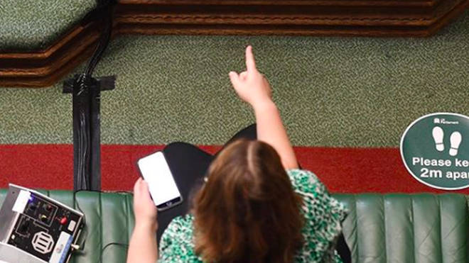 MPs must sit 6ft (2m) apart from one another