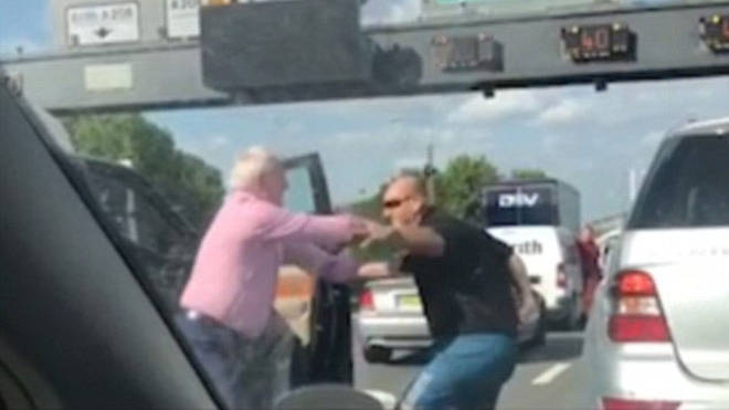 This is the M25 road rage incident