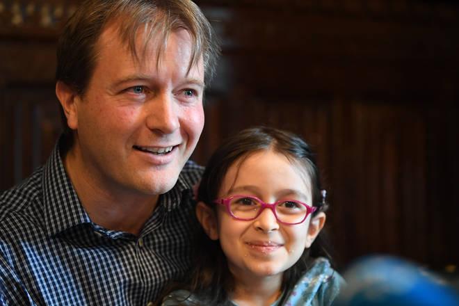Richard Ratcliffe and his daughter Gabriella Zaghari-Ratcliffe
