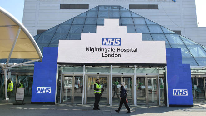 The NHS Nightingale is having to turn away patients, it has been reported