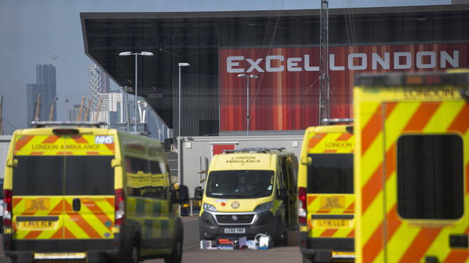 The Nightingale was set up inside the London ExCel centre to deal with the virus