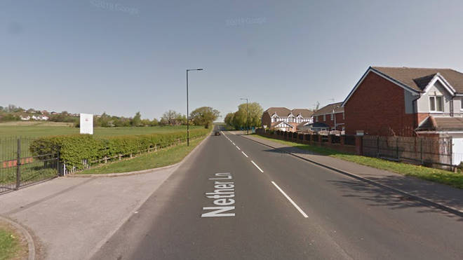 The collision took place on Nether Lane, Sheffield, on Tuesday
