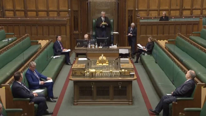 The first video link PMQs to begin shortly