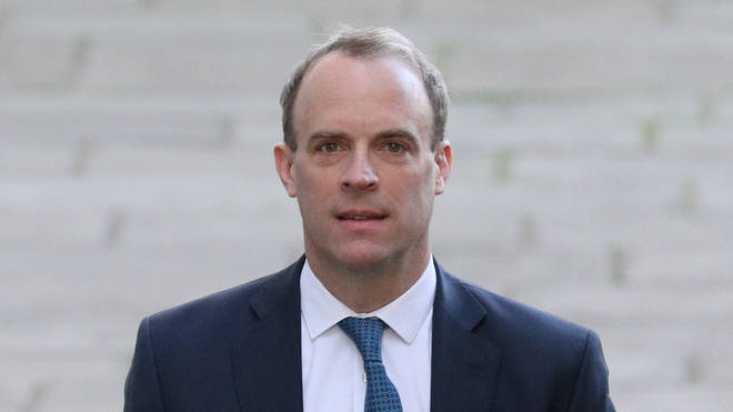 Foreign Secretary Dominic Raab is to address the nation later