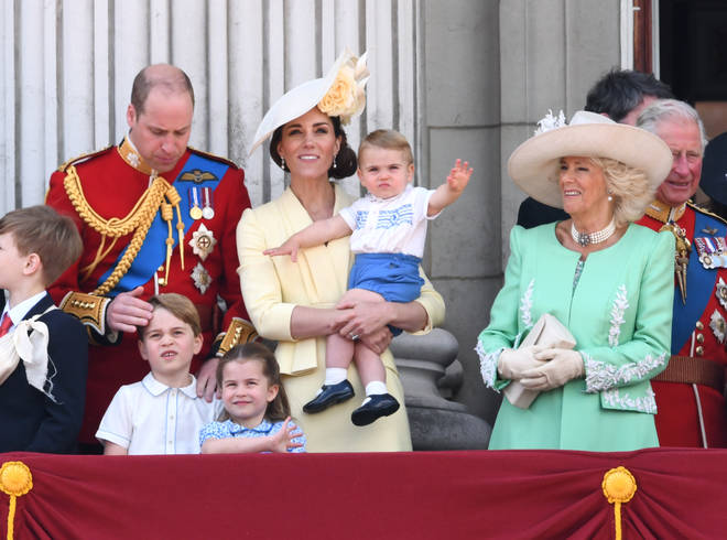 Prince Louis made his debut on the Buckingham Palace balcony last year