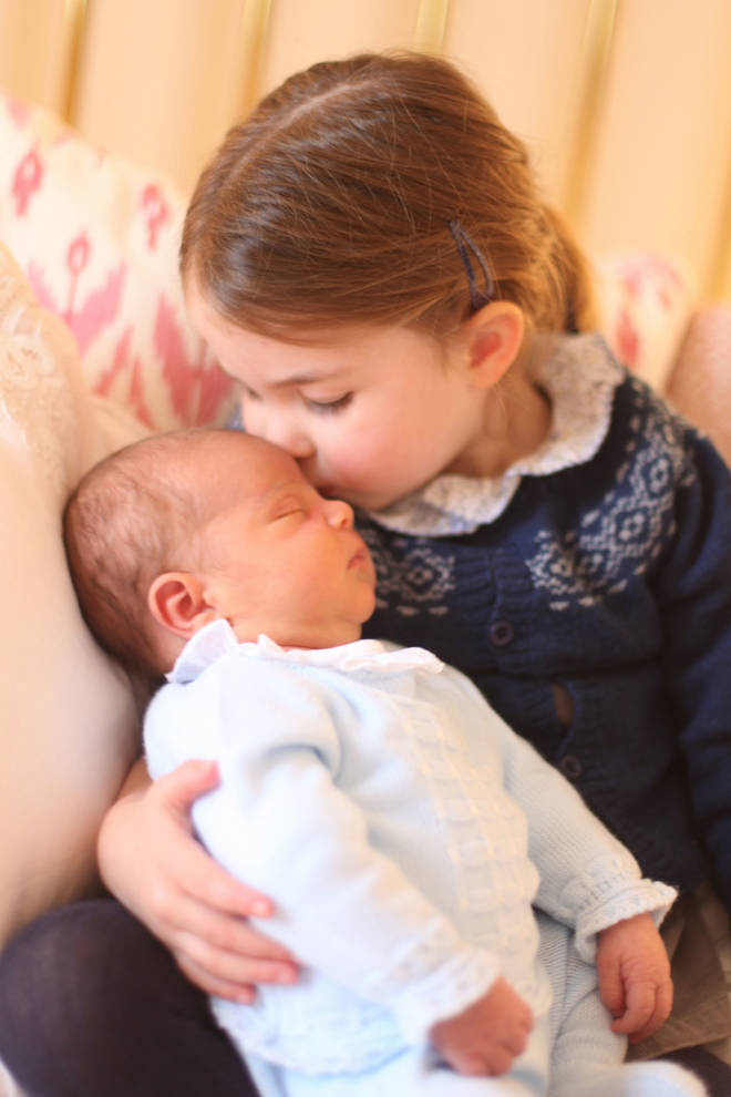 The Duchess took this picture of Louis when he was born in 2018