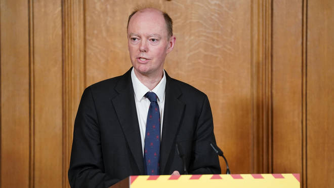 Chris Whitty has said he thinks social distancing measures could be in place for the rest of the year