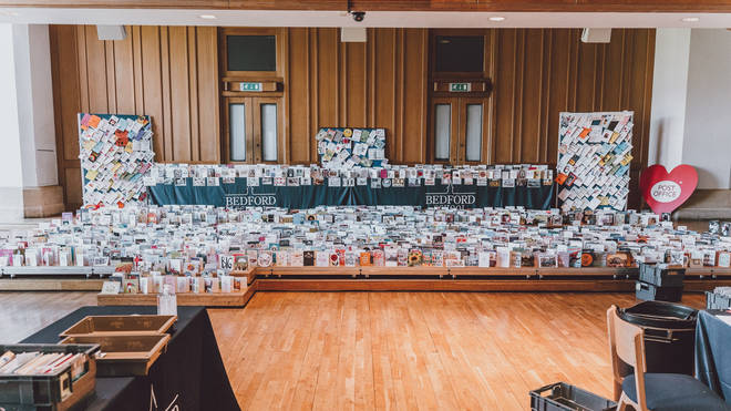 A sorting office has been set up at his grandson's school to look after all the birthday cards