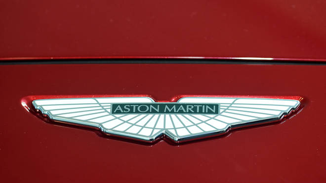 File photo: A logo on the new Aston Martin DBX at the new Aston Martin Lagonda factory in Barry, Wales