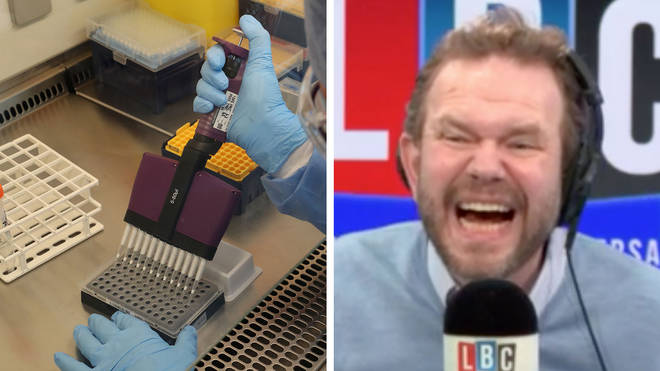 James O'Brien enjoyed his interview about the coronavirus vaccine
