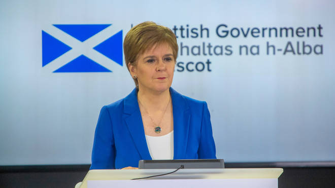 File photo: Nicola Sturgeon gave a press conference on the lockdown measures on Thursday
