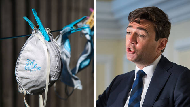 Andy Burnham told LBC of the nightmare he has had importing facemasks