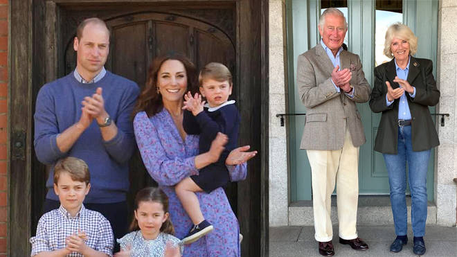 The Duke and Duchess of Cambridge, Prince Charles and Camilla led the nation in thanking the NHS
