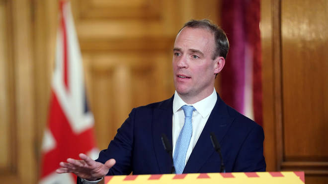 First Secretary Dominic Raab has been standing in the place of the Prime Minister during Mr Johnson's absence