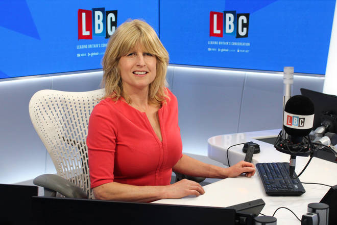 Rachel Johnson in the LBC studio