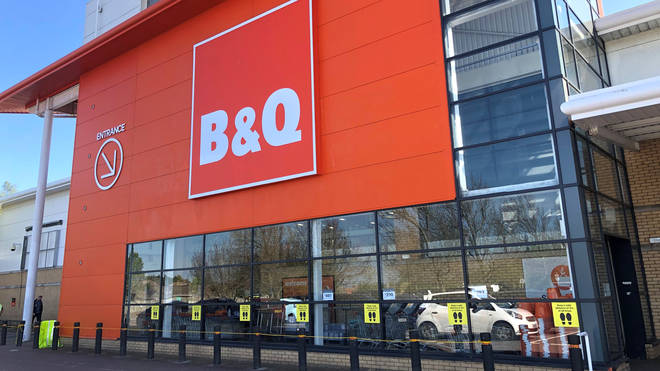 B&Q branches have begun to open their doors with distancing measures in place