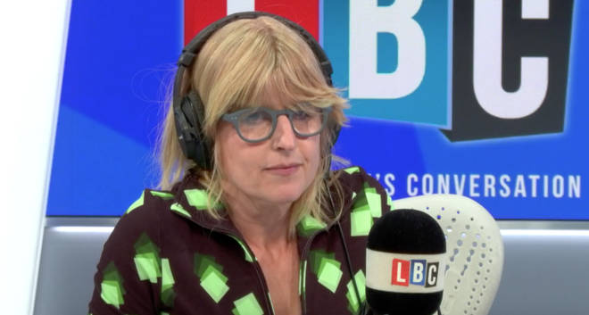 Rachel Johnson thanked the nurses who saved her brother's life on her first LBC show