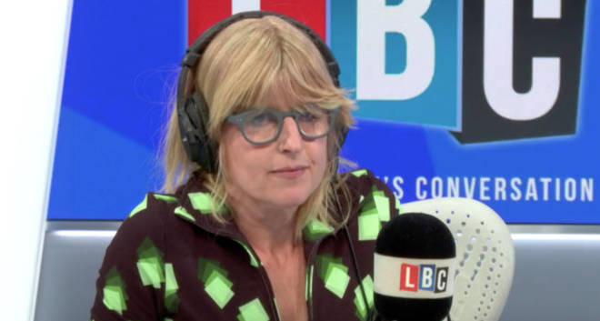 Rachel Johnson thanked the nurses who saved her brother's life on her first LBC show.