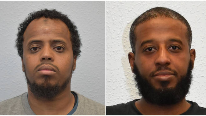 Ayub Nurhussein (R), 29, and 30-year-old Said Mohammed (L) have been jailed for sending money to ISIS