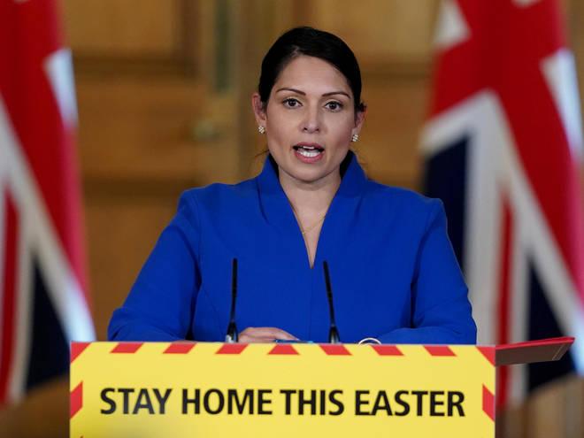 Priti Patel is set to lead the daily coronavirus press briefing