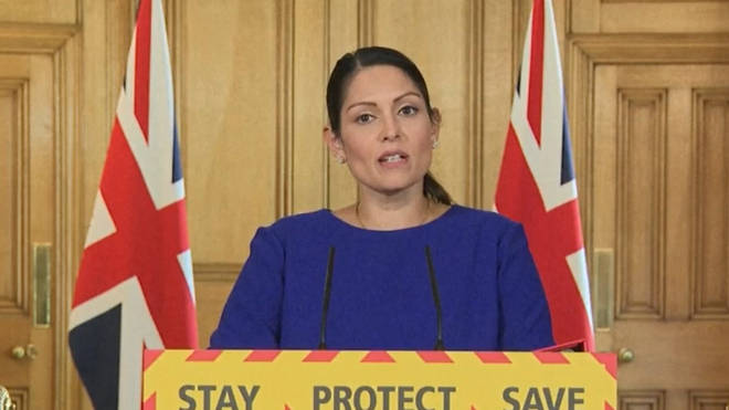 Priti Patel issued a stark warning to criminals during a press conference