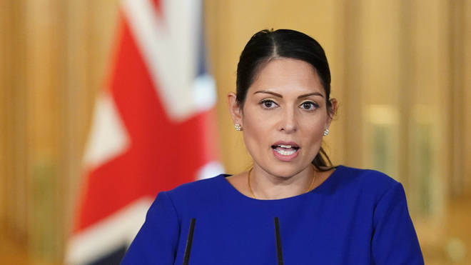 "Priti Patel said the entire nation was grieving as it marked another ""tragic and terrible milestone"""