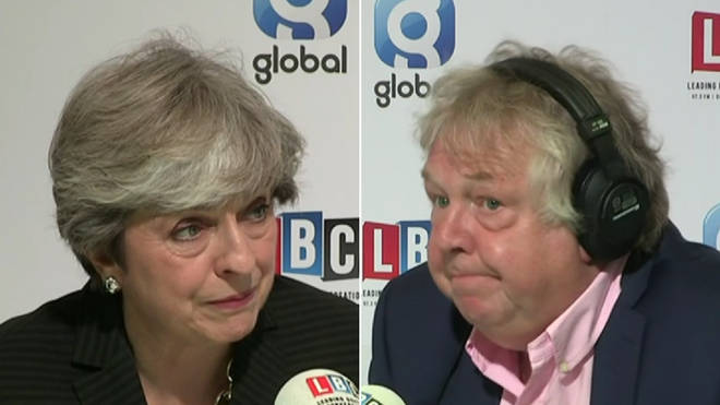 Theresa May admitted she shed a tear to Nick Ferrari