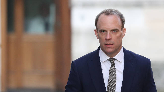 "Dominic Raab said the coronavirus outbreak is at a ""delicate and dangerous"" stage"