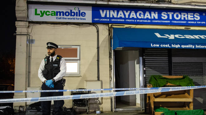 The scene where two young children were stabbed to death