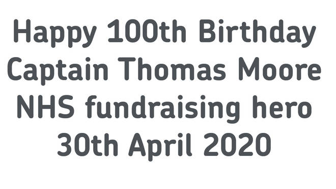 The special postmark will honour the NHS fundraiser