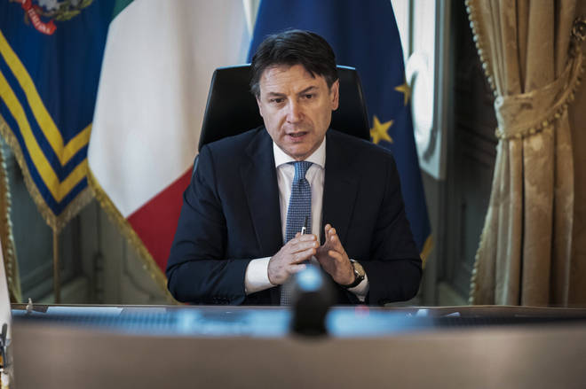 Giuseppe Conte made a televised announcement