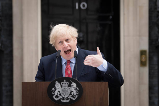 Boris Johnson made a statement outside No 10 after being unwell with coronavirus for two weeks