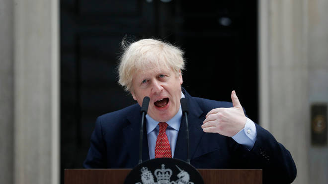 Prime Minister Boris Johnson returned to work on Monday after suffering from coronavirus