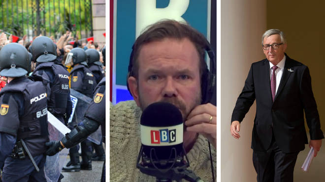 James O'Brien takes on caller over the EU's response to the police brutality in Catalonia.