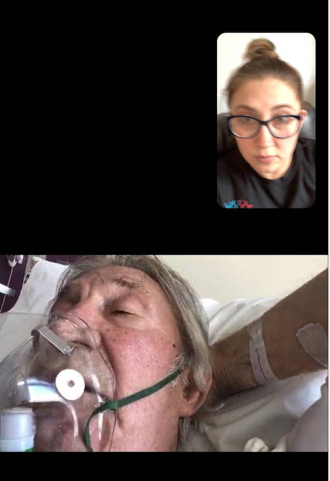 Jo said goodbye to her dad on FaceTime
