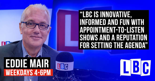 Eddie Mair will present his first LBC show on Monday 3rd September