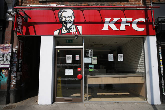 Fast-food rival KFC have reopened some stores in the UK