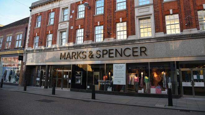 Marks & Spencer in Cambridge city centre during the Coronavirus lockdown