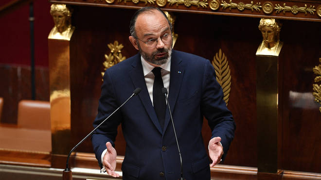 Prime Minister Edouard Philippe makes a statement to present his plan to exit from the lockdown situation at the National Assembly in Paris