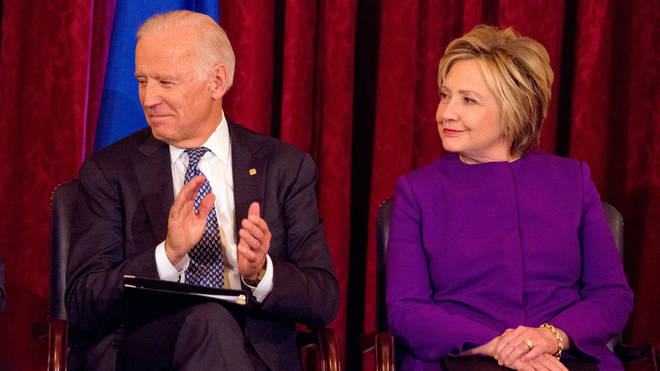 File photo: Hillary Clinton endorsed Joe Biden's run for president on Tuesday
