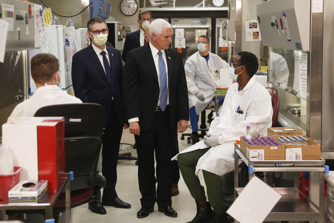 Mike Pence visited the labs during his visit