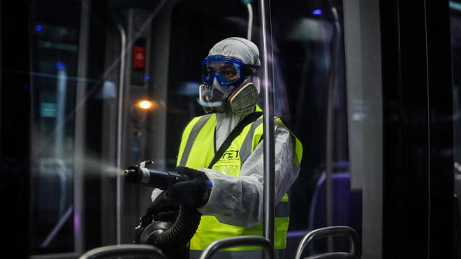Buses and trams in the Bordeaux region are disinfected three times a day to prevent the spread of covid-19