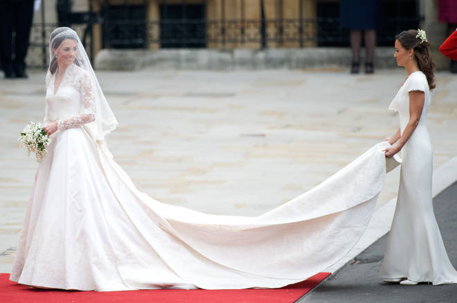 Pippa Middleton, the brides sister, acted as Maid of Honour on the big day