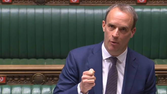 Dominic Raab is set to lead the government's daily coronavirus briefing
