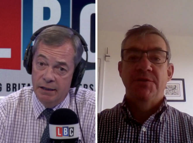 John McTernan speaks to Nigel Farage